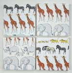 4 Ceramic Coasters in Sophie Allport Safari